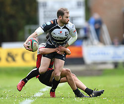 Pontypridd's Geriant Walsh<br /> Cross Keys v Pontypridd RFC<br /> <br /> Photographer Mike Jones / Replay Images<br /> Pandy Park, Cross Keys.<br /> Wales - 12th May 2018.<br /> <br /> Cross Keys v Pontypridd RFC<br /> Principality Premiership<br /> <br /> World Copyright © Replay Images . All rights reserved. info@replayimages.co.uk - http://replayimages.co.uk