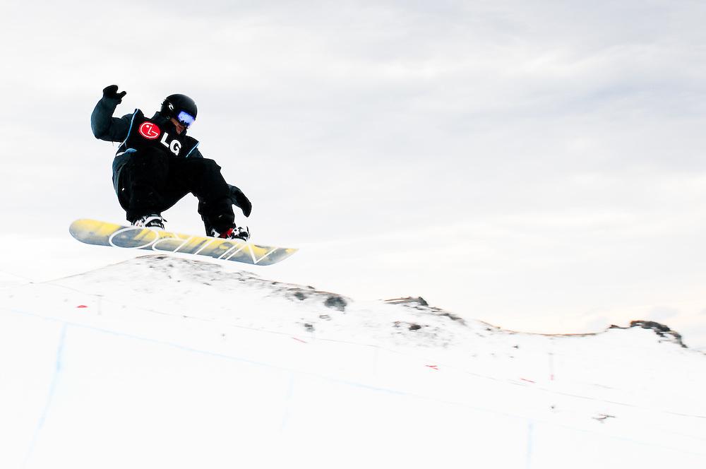 Half Pipe Training, World Cup Snowboard Halfpipe Finals, Winter Games, Cadrona Ski Field, Thursday August 26, 2011...Photo by Mark Tantrum | www.marktantrum.com