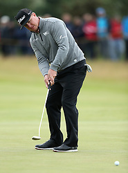 USA's Charley Hoffman putts on the 1st green during day two of The Open Championship 2017 at Royal Birkdale Golf Club, Southport. PRESS ASSOCIATION Photo. Picture date: Friday July 21 , 2017. See PA story GOLF Open. Photo credit should read: Andrew Matthews/PA Wire. RESTRICTIONS: Editorial use only. No commercial use. Still image use only. The Open Championship logo and clear link to The Open website (TheOpen.com) to be included on website publishing. Call +44 (0)1158 447447 for further information.