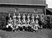 Irish Rugby Football Union, Ireland v France, Five Nations, Landsdowne Road, Dublin, Ireland, Saturday 15th April, 1961,.15.4.1961, 4.15.1961,..Referee- G J Treharne, ..Score- Ireland 3 - 15 France, ..Irish Team, ..T J Kiernan,  Wearing number 15 Irish jersey, Full Back, University college Cork Football Club, Cork, Ireland,  ..A J F O'Reilly, Wearing number 14 Irish jersey, Right Wing, Dolphin Rugby Football Club, Cork, Ireland, ..D Hewitt, Wearing number 13 Irish jersey, Right centre, Queens University Rugby Football Club, Belfast, Northern Ireland,..J C Walsh,  Wearing number 12 Irish jersey, Left Centre, University college Cork Football Club, Cork, Ireland,..N H Brophy, Wearing number 11 Irish jersey, Left wing, Blackrock Rugby Football Club, Dublin, Ireland, ..M A English, Wearing number 10 Irish jersey, Stand Off, Garryowen Rugby Football Club, Limerick, Ireland, ..A A Mulligan, Wearing number 9 Irish jersey, Scrum Half, London Irish Rugby Football Club, Surrey, England, ..B G Wood, Wearing number 1 Irish jersey, Forward, Landsdowne Rugby Football Club, Dublin, Ireland,..A R Dawson, Wearing number 2 Irish jersey, Captain of the Irish team, Forward, Wanderers Rugby Football Club, Dublin, Ireland, ..S Millar, Wearing number 3 Irish jersey, Forward, Ballymena Rugby Football Club, Antrim, Northern Ireland,..T J Nesdale, Wearing number 4 Irish jersey, Forward, Garryowen Rugby Football Club, Limerick, Ireland, ..C J Dick, Wearing number 5 Irish jersey, Forward, Ballymena Rugby Football Club, Antrim, Northern Ireland,..D Scott, Wearing number 6 Irish jersey, Forward, Malone Rugby Football Club, Belfast, Northern Ireland, ..J R Kavanagh, Wearing number 8 Irish jersey, Forward, Wanderers Rugby Football Club, Dublin, Ireland,..M G Culliton, Wearing number 7 Irish jersey, Forward, Wanderers Rugby Football Club, Dublin, Ireland, ..