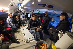 Damien Seguin rencontre avec parternaires au 2016 Vendee Globe en préparation pour son VG 2020