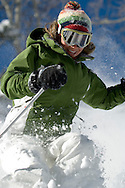 Jen skiing at Deer Valley, Utah USA