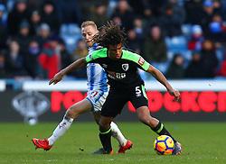 Nathan Ake of Bournemouth takes on Alex Pritchard of Huddersfield Town - Mandatory by-line: Robbie Stephenson/JMP - 11/02/2018 - FOOTBALL - The John Smith's Stadium - Huddersfield, England - Huddersfield Town v Bournemouth - Premier League