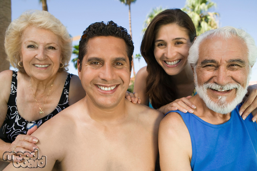 Married Couple with Parents on Vacation