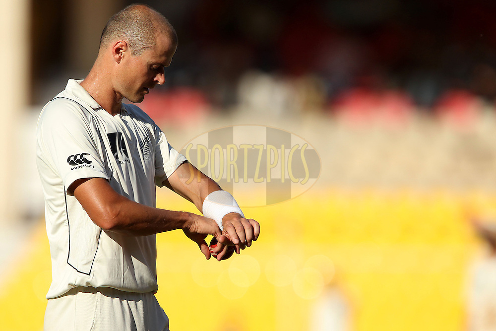 Chris Martin of New Zealand during day 1 of the first test match between India and New Zealand  held at the Sardar Patel Gujarat Stadium in Ahmedabad on the 4th November 2010..Photo by Ron Gaunt/BCCI/SPORTZPICS