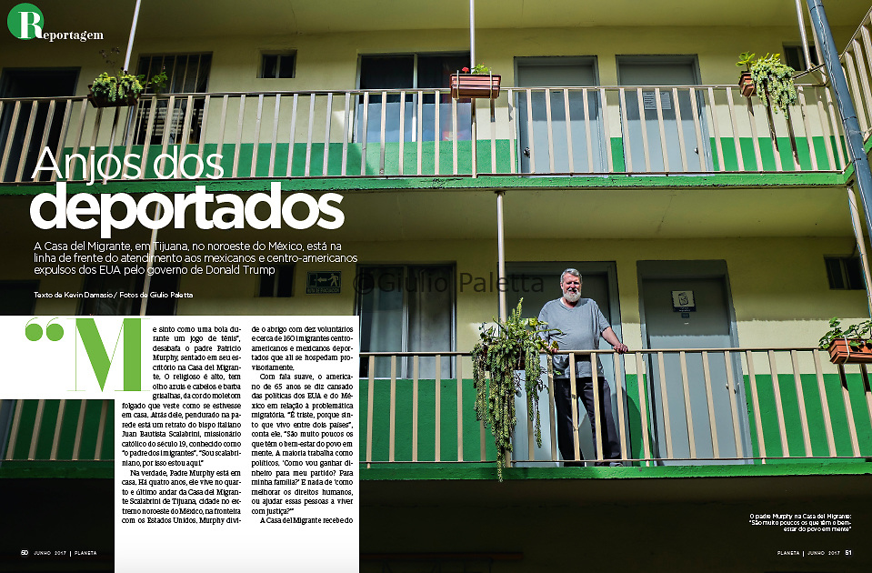 """Anjos dos deportados"", published in Planeta magazine, Brazil, July 2017"