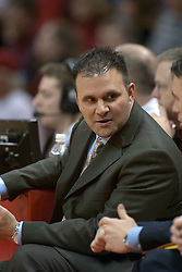 12 February 2005<br /> <br /> Assistant Coach Chris Jans.<br /> <br /> Illinois State University Redbirds V Northern Iowa Panthers Mens NCAA Missouri Valley Conference Basketball.  Redbird Arena, Illinois State University, Normal IL