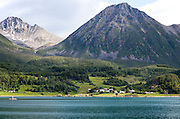 Steep mountains on Grytoya island, Troms county, northern Norway