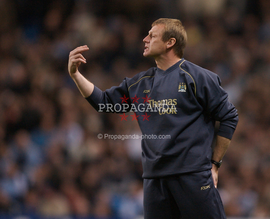 Manchester, England - Wednesday, March 14, 2007: Manchester City's manager Stuart Pearce during the Premiership match against Chelsea at the City of Manchester Stadium. (Pic by David Rawcliffe/Propaganda)