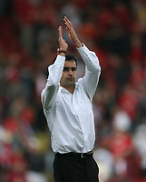 Photo: Rich Eaton.<br /> <br /> Bristol City v Swansea City. Coca Cola League 1. 07/04/2007. Roberto MArtinez Swansea manager applauds the travelling fans at the end of the game