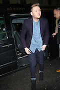 11.DECEMBER.2012. LONDON<br /> <br /> JAMES ARTHUR ARRIVING AT THE X FACTOR WRAP UP PARTY HELD AT THE HIPPODROME CASINO IN LEICESTER SQUARE, LONDON<br /> <br /> BYLINE: EDBIMAGEARCHIVE.CO.UK<br /> <br /> *THIS IMAGE IS STRICTLY FOR UK NEWSPAPERS AND MAGAZINES ONLY*<br /> *FOR WORLD WIDE SALES AND WEB USE PLEASE CONTACT EDBIMAGEARCHIVE - 0208 954 5968*