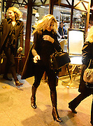21.NOVEMBER.2012. PARIS<br /> <br /> KATE MOSS STOPS AT TERMINUS RESTAURANT PRIOR TO HEADING TO GARE DU NORD STATION TO CATCH A TRAIN TO LONDON.<br /> <br /> BYLINE: EDBIMAGEARCHIVE.CO.UK<br /> <br /> *THIS IMAGE IS STRICTLY FOR UK NEWSPAPERS AND MAGAZINES ONLY*<br /> *FOR WORLD WIDE SALES AND WEB USE PLEASE CONTACT EDBIMAGEARCHIVE - 0208 954 5968*