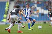 Brighton & Hove Albion central defender Lewis Dunk (5) during the EFL Sky Bet Championship match between Brighton and Hove Albion and Brentford at the American Express Community Stadium, Brighton and Hove, England on 10 September 2016.