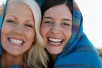 Two women smiling portrait