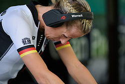 Trixi Worrack prepares for the UCI Road World Championships Elite Women's Individual Time Trial 2017 a 21.1 km time trial in Bergen, Norway on September 19, 2017. (Photo by Sean Robinson/Velofocus)