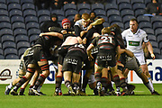 The Edinburgh pack was strong during the Guinness Pro 14 2017_18 match between Edinburgh Rugby and Glasgow Warriors at Murrayfield, Edinburgh, Scotland on 23 December 2017. Photo by Kevin Murray.