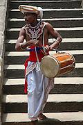 Drummers at the Vishnu Devale on Kandy