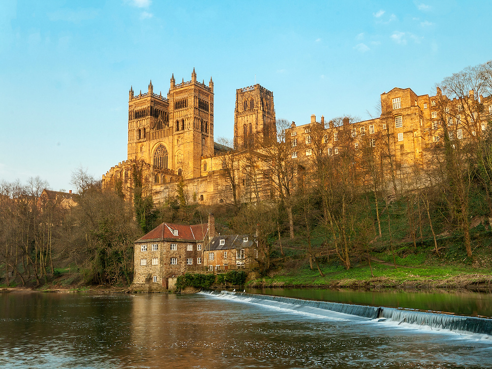 Durham Cathedral  overlooking the River Wear in the North East of England