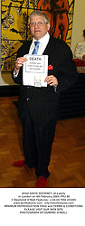 Artist DAVID HOCKNEY  at a party in London on 4th February 2004.PRJ 88