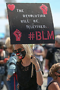 Protesters during the Black Lives Matter Protest in Brighton & Hove, United Kingdom on 13 June 2020.