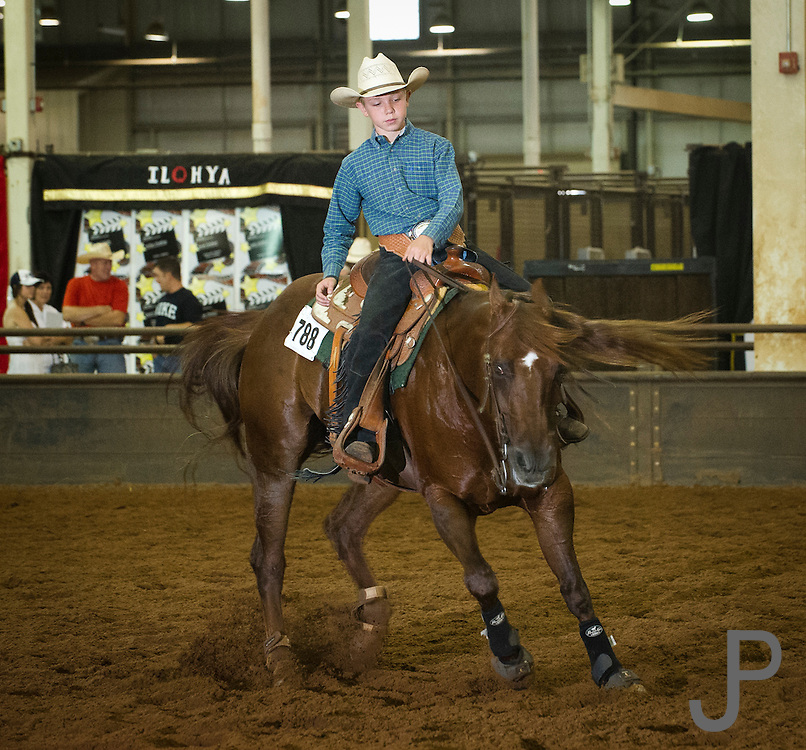 Justis Marshall from Burlington CO horse name SLJ Smart Little Okie first time qualifier 12 years oldJustis Marshall from Burlington CO horse name SLJ Smart Little Okie warms up his horse before the competitonJustis Marshall from Burlington CO horse name