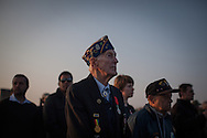 Veterans in Utah beach for the 69th anniversary of the D Day during the ceremony