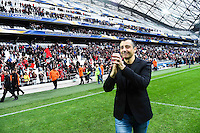 Joie Mourad Boudjellal - 19.04.2015 - Toulon / Leinster - 1/2Finale European Champions Cup -Marseille<br />