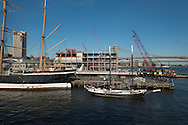 Construction of Piet 17 at South Street Seaport.