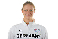 Steffi Kriegerstein poses at a photocall during the preparations for the Olympic Games in Rio at the Emmich Cambrai Barracks in Hanover, Germany. July 04, 2016. Photo credit: Frank May/ picture alliance. | usage worldwide
