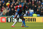 Crystal Palace midfielder Yannick Bolasie  flicks the ball on during the Barclays Premier League match between Crystal Palace and Liverpool at Selhurst Park, London, England on 6 March 2016. Photo by Simon Davies.