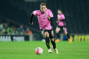 Northampton Town Striker Ricky Holmes on the charge  during the The FA Cup Third Round Replay match between Milton Keynes Dons and Northampton Town at stadium:mk, Milton Keynes, England on 19 January 2016. Photo by Dennis Goodwin.