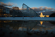 WASHINGTON, USA - January 18: Protective flooring and steel barricades have been placed along the entire National Mall just days before the 58th Inauguration Ceremony where President-elect Donald Trump will be sworn into office in Washington, USA on January 18, 2017.
