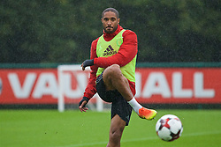 CARDIFF, WALES - Saturday, September 3, 2016: Wales' captain Ashley Williams during a training session at the Vale Resort ahead of the 2018 FIFA World Cup Qualifying Group D match against Moldova. (Pic by David Rawcliffe/Propaganda)