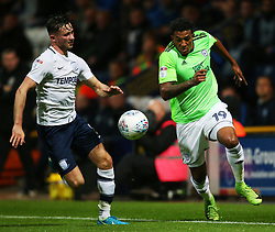 Cardiff City's Nathaniel Mendez-Laing takes on Preston North End's Alan Browne - Mandatory by-line: Matt McNulty/JMP - 12/09/2017 - FOOTBALL - Deepdale Stadium - Preston, England - Preston North End v Cardiff City - SkyBet Championship
