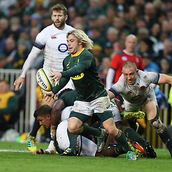 Faf de Klerk of South Africa during the 2018 Castle Lager Incoming Series 3rd Test match between South Africa and England at Newlands Rugby Stadium,Cape Town,South Africa. 23,06,2018 Photo by (Steve Haag JMP)