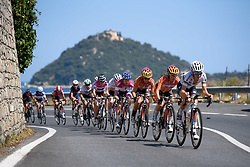 Boels Dolmans in control as the final climb approaches at Giro Rosa 2016 - Stage 6. A 118.6 km road race from Andora to Alassio, Italy on July 7th 2016.