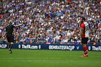 Football - 2017 / 2018 FA Cup - Semi Final: Chelsea vs. Southampton<br /> <br /> Southampton's Charlie Austin looks bemused after having his effort ruled out for a foul at Wembley Stadium <br /> <br /> COLORSPORT/SHAUN BOGGUST