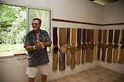 Mayor Leon Lichtle, Vaipaee Community Botanical Garden, Ua Huka, Marquesas Islands, French Polynesia, (Editorial use only)<br />
