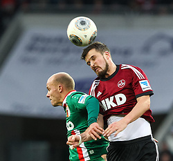 16.02.2014, SGL Arena, Augsburg, GER, 1. FBL, FC Augsburg vs 1. FC Nuernberg, 21. Runde, im Bild Kopfballduell zwischen Per Nilsson (1 FC Nuernberg, re ), Tobias Werner (FC Augsburg #13), Aktion, Zweikampf, // during the German Bundesliga 21th round match between FC Augsburg and 1. FC Nuernberg at the SGL Arena in Augsburg, Germany on 2014/02/16. EXPA Pictures &copy; 2014, PhotoCredit: EXPA/ Eibner-Pressefoto/ Krieger<br /> <br /> *****ATTENTION - OUT of GER*****