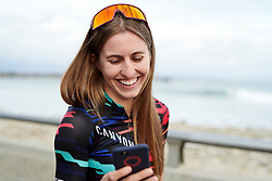 Alexis Ryan (USA) at Amgen Tour of California Women's Race empowered with SRAM 2019 - Team Presentation in Ventura, United States on May 15, 2019. Photo by Sean Robinson/velofocus.com