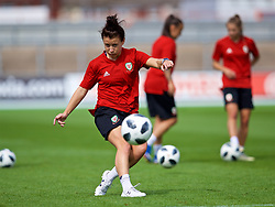 NEWPORT, WALES - Thursday, August 30, 2018: Wales' Angharad James during a training session at Rodney Parade ahead of the final FIFA Women's World Cup 2019 Qualifying Round Group 1 match against England. (Pic by David Rawcliffe/Propaganda)