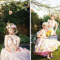 Publication: Absolute Brighton magazine, April 2013<br /> Photography: Erika Szostak<br /> Production: Erika Szostak & Louise O'Mahony (Oh My Honey)<br /> Styling:  Louise O'Mahony & Kate Morton (Absolute Brighton)<br /> Makeup: Cornelia Page<br /> Hair: Susan Bond<br /> Floral Styling: Wookie Floral Design Ltd.<br /> Dresses: Oh My Honey<br /> Shoes: Irregular Choice<br /> Jewellery: Baroque & Jeremy Hoye<br /> Photography Assistant: Mark Liddell<br /> Models: Catie Greener & Dolly Diamond