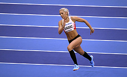 March 2, 2018 - Birmingham, England, UK - IVONA DADIC of Austria lines up her high jump for Pentathlon event during IAAF World Indoor Championships. (Credit Image: © Panoramic via ZUMA Press)