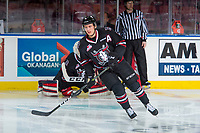 KELOWNA, BC - NOVEMBER 11: Mason McCarty #9 of the Red Deer Rebels warms up against the Kelowna Rockets at Prospera Place on November 11, 2017 in Kelowna, Canada. (Photo by Marissa Baecker/Getty Images)
