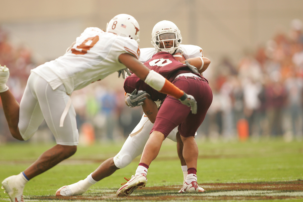 Michael Huff.Texas at Texas A&M.Kyle Field.College Station, TX.Friday, November 25 2005.11-25-05.photograph by Darren Carroll.