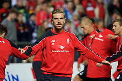 ADELAIDE, AUSTRALIA - Sunday, July 19, 2015: Liverpool's captain Jordan Henderson during a training session at Coopers Stadium ahead of a preseason friendly match against Adelaide United on day seven of the club's preseason tour. (Pic by David Rawcliffe/Propaganda)