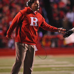 Oct 16, 2009; Piscataway, NJ, USA; Rutgers head coach Greg Schiano during first half NCAA football action between Rutgers and Pittsburgh at Rutgers Stadium.