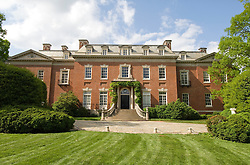 Washington DC; USA: The Georgetown area, known for its shopping and historic brick homes.  Estate known as Dumbarton Oaks..Photo copyright Lee Foster Photo # 20-washdc79940