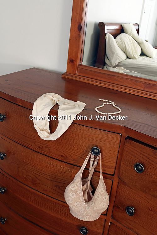 A moment in the morning after making love. Image is of the photographer's home.<br /> <br /> Available exclusively through AGE FOTOSTOCK