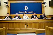 Rome oct 6th 2015, Democratic Party presents a law on sports' education and culture. In the picture Ettore Rosato, Carlo Tavecchio, Daniela Sbrollini, Bruno Molea, Francesco Soro